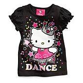 Hello Kitty Kids Shirts, Little Girls Glitter Graphic Tees