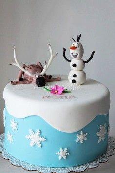 Cute Frozen Birthday Cake for Kids, Disney Birthday Party Ideas, Snowflake Cake, Holiday Food Decorating | Amazing ideas on frozen birthday cake, disney birthday party ideas, 2014 valentine's day