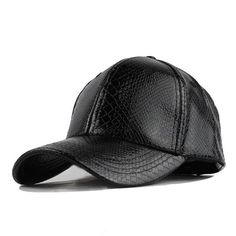 d56d6c40020 High Quality Faux Leather Cap Winter hat Snapback PU Leather Baseball Cap  Men Fitted Hat For Men Women