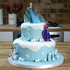 Frozen Motivtorte als Kuchen für Kindergeburtstag
