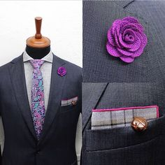 #purplepaislet tie and poket square available for your dapper style on WWW.NOHOWSTYLE.COM. #grandfrank_official #nohow