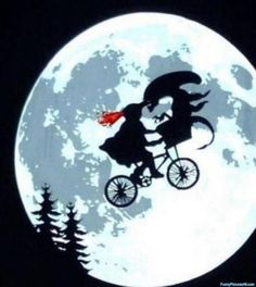 witches is now riding a bicycle