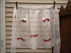 vintage half apron, carmen lee, hostess apron, like new, voile. $14.00, via Etsy.
