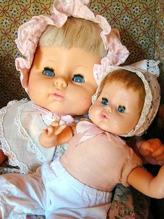 Horsman dolls---the large doll is a Snuggle Softee---(I have this one).