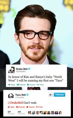 Drake Bell being awesome…  @Kayla Bell make this happen and I will pay you.
