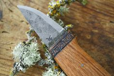 Wild Harvesting Knife This knife was hand-forged by Samuel Plante of Boreas Forge