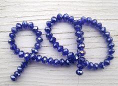 Deep Blue Crystal Beads full strand 6mm by by KrystalKlarityBeads