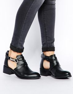 ASOS | ASOS APOLLO Leather Cut Out Ankle Boots at ASOS