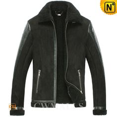 Black Sheepskin Motorcycle Jackets CW861234 Black sheepskin leather motorcycle jacket for men, being soft, delicate and extremely warm with superior sheepskin and lamb fur, features in stand collar, embossed details, full zipper front, this sheepskin jacket is the best choice for winter. www.cwmalls.com PayPal Available (Price: $1437.89) Email:sales@cwmalls.com