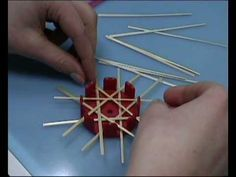 video instructions for Swedish straw ornaments