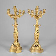 Важные пара высокий канделябры стиль рококо в золоте и точеных бронза