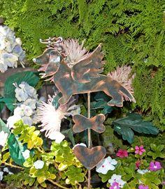 Dachshund Metal Garden Art Stake / Dog Pet Memorial / Copper Art / Yard Art…