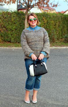 Plus Size Life: OUTFIT - Blue Jeans