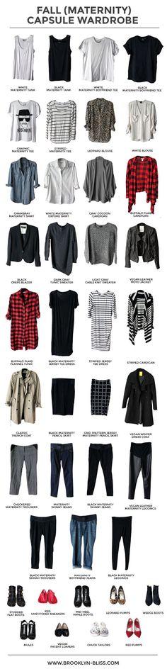 My Fall 2014 (Maternity) Capsule Wardrobe - Brooklyn Bliss - and how to create a capsule wardrobe