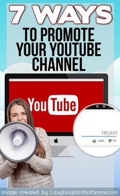 The first step toward building your Youtube audience is to get people to start watching your videos. Here are 7 easy ways to promote your Youtube Channel. #onlinemarketing #advertising #entrepreneurs #entrepreneurship #socialmedia  #socialmediamarketing  #socialmediatips #youtubechannel #youtubevideo #youtubeblogger