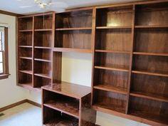 Custom Made Built-In Bookshelves