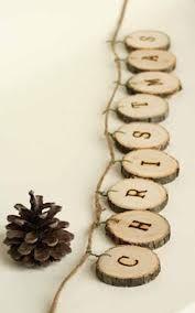 wood garland tree slices