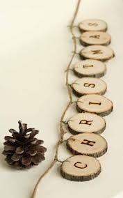 wood garland tree slices