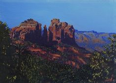 Cathedral Rock, Sedona by Curt Ives Oil ~ 5 x 7 For Christmas one year we spent a week in Sedona and had some of the most amazing hikes I've ever been on. I took hundreds of photographs. This is a small study of Cathedral Rock. I'll be doing a series on Sedona based on my hikes.
