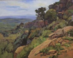 "James Wisnowski ""Morning Light at Stoney Point"" Oil Painting"