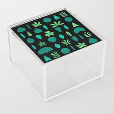 Leaf Shapes and Arrangements Pattern Dark | Different Leaf Shapes and Arrangements were transformed into a pattern. #Graphic-design #Digital #Ink #Decoration #Unique #Design #Leaf #Leaves #Pattern #Shapes #Arrangements #Botanik #Flora #Nature #Green #Greenery #Watercolor #Plant #Plants #Society6 #Acrylicbox #kathrinmay