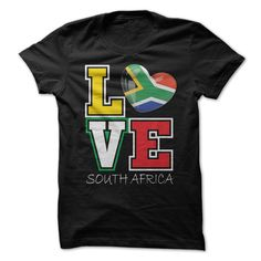 Love South Africa Flag T-Shirts, Hoodies. BUY IT NOW ==► https://www.sunfrog.com/LifeStyle/Love-South-Africa-Flag-T-Shirt.html?id=41382