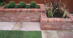 Recycled red brick garden beds to be constructed in different shapes of various sizes.
