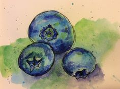 KjAllison blueberries in Delicious Paint with Tracey Fletcher King