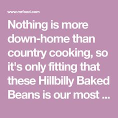 Nothing is more down-home than country cooking, so it's only fitting that these Hillbilly Baked Beans is our most popular slow cooker potluck recipe.