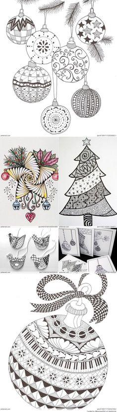 Weihnachten-Zentangle-Muster 1688