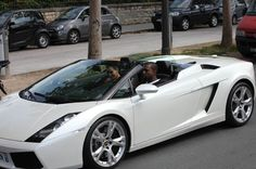 Since she started dating Kanye West, Kim Kardashian's style has evolved to befit her status as an international rap star's girlfriend.     She certainly looked the part in the passenger seat of his $380,000 Lamborghini this week.    Kim bought the luxury car as a birthday gift for her beau, and the couple have been seen cruising around Paris in his open-topped ride.