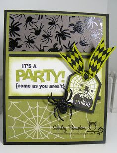 Hi Blogging Friends     Just another Halloween card to share. I made this card for my Stampin Club this last week. Kim found this really cu...