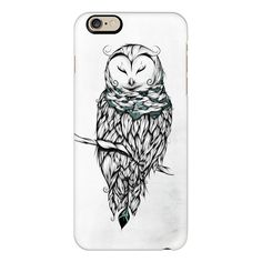 Poetic Snow Owl  - iPhone 6s Case,iPhone 6 Case,iPhone 6s Plus... ($40) ❤ liked on Polyvore featuring accessories, tech accessories, iphone case, iphone cover case, slim iphone case, apple iphone cases, iphone cases and clear iphone cases