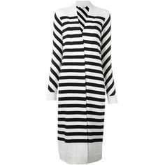 Diane Von Furstenberg Carlisle Cardi-Coat (1.845 BRL) ❤ liked on Polyvore featuring outerwear, coats, white, striped coat, long sleeve coat, white coat, diane von furstenberg coat and diane von furstenberg