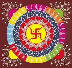 Rangoli designs and patterns - Messages, Wordings and Gift Ideas Ying Yang Symbol, Indian Rangoli Designs, Rangoli Patterns, Hindu Culture, Colored Sand, Indian Folk Art, Simple Rangoli, Ancient Symbols, Geometric Lines