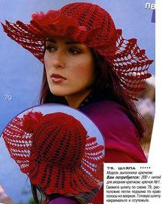 Красная шляпа крючком1