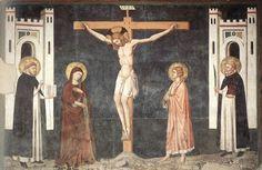 Pietro Cavallini  - Crocifissione - affreschi - 1308 circa - Cappella Brancaccio, Chiesa San Domenico Maggiore, Napoli