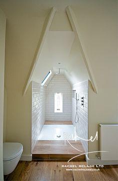 Bathroom in converted chapel - interior by Rachel McLane Ltd - Interior design consultancy, Yorkshire