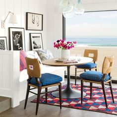 Colorful Beach Condo Makeover   Interior designer Peter Dunham reinvents a Southern California condo with open living spaces and a first-class view.