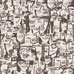 Caras Tres Wallpaper Roll Beige   by Tres Tintas Barcelona