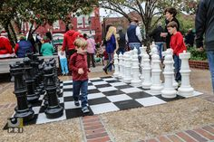 """Still from our """"oversized series,"""" here's our life size chess. It's awesome to visualize your moves and also teach others how to play in an easy, fun way!"""