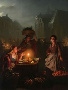 View AN EVENING MARKET By Petrus Van Schendel; Access more artwork lots and estimated & realized auction prices on MutualArt. Classic Paintings, Beautiful Paintings, Caravaggio, John William Waterhouse, William Adolphe Bouguereau, Art Ancien, Traditional Paintings, Chiaroscuro, Fine Art