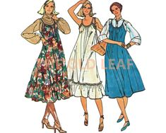 Sewing Pattern for 80s Tent Dress & Jumper, Easy Butterick 6314 #80sFashion #TentDress #1980sDresses #Dressmaking #EasySewingProjects #TheOldLeaf