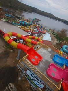 Another scene overlooking the new waterslide complex at Quassy. Roller Coasters, Amusement Park, Nerf, Scene, Amusement Parks, Roller Coaster, Stage