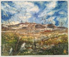 Arenig Fawr from Parc Wales Uk, Encaustic Art, Texture Art, Grand Canyon, Mixed Media, Wax, Layers, Studio, Abstract