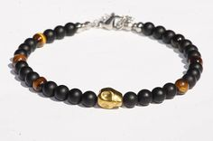 Bijoux de cheville/Bracelet de cheville  Agate/Oeil de tigre/crâne Hématite doré Agate, Beaded Bracelets, Men, Etsy, Jewelry, Beach Jewelry, Feet Jewelry, Ankle Jewelry, Unique Jewelry