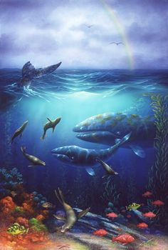 Artist David Miller,Seacapes and seascape paintings, Dolphin art and dolphin paintings by David Miller Dolphin Painting, Dolphin Art, David Miller, Seascape Paintings, Cute Baby Animals, Dolphins, Cute Babies, Whale, California