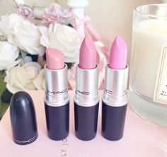 Favourite Five Pink Lipsticks | MAC Creme Cup, Saint Germain & Snob