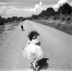 """Dorie Hagler (@doriehaglerphotography) photographs her daughter in #Taos New Mexico with the note """"Our dog Sasha has since passed away but this was her favorite place to run."""" // #portrait #portraitphotography #portraits #documentary #documentaryphotography #landscape #blackandwhite #blackandwhiteisworththefight #monochrome #contemporaryphotography #tinypeopleinbigplaces #artphotography #contemporaryphotography"""