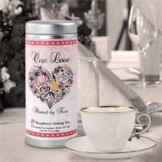 Heart themed tea tins wedding or shower favors